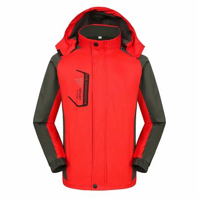 Quần áo leo núi Cộng với nhung mùa xuân và mùa thu áo khoác một lớp tùy chỉnh in logo leo núi câu cá