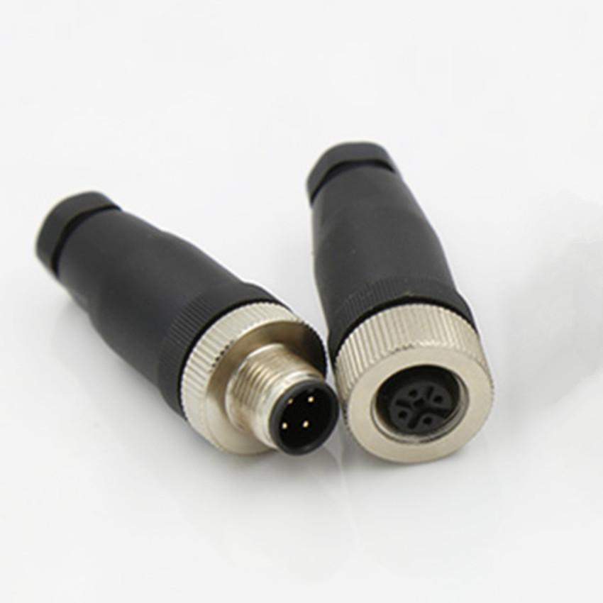 SINO Giắc nối Đầu nối ren M12 Vít nhựa M12 lắp ráp cắm thẳng PG7 3 lõi 4 lõi 5 lõi 8 lõi
