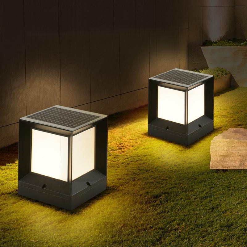 NIG Đèn LED sân vườn Ánh sáng mặt trời sân ngoài trời trụ cột đèn ngoài trời không thấm nước sân vườ