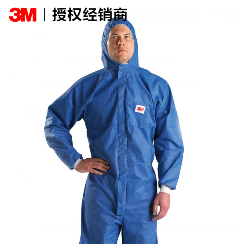 3M Trang phục bảo hộ Quần áo bảo hộ một mảnh 3M 4532+ màu xanh, hạt chống bức xạ, quần áo chống hóa