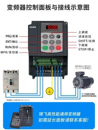 Jinfei Thiết bị biến tần  Biến tần Jinfei ba pha 380V2.2 / 3kw4kw5.5kw7.5kw11kw15kw