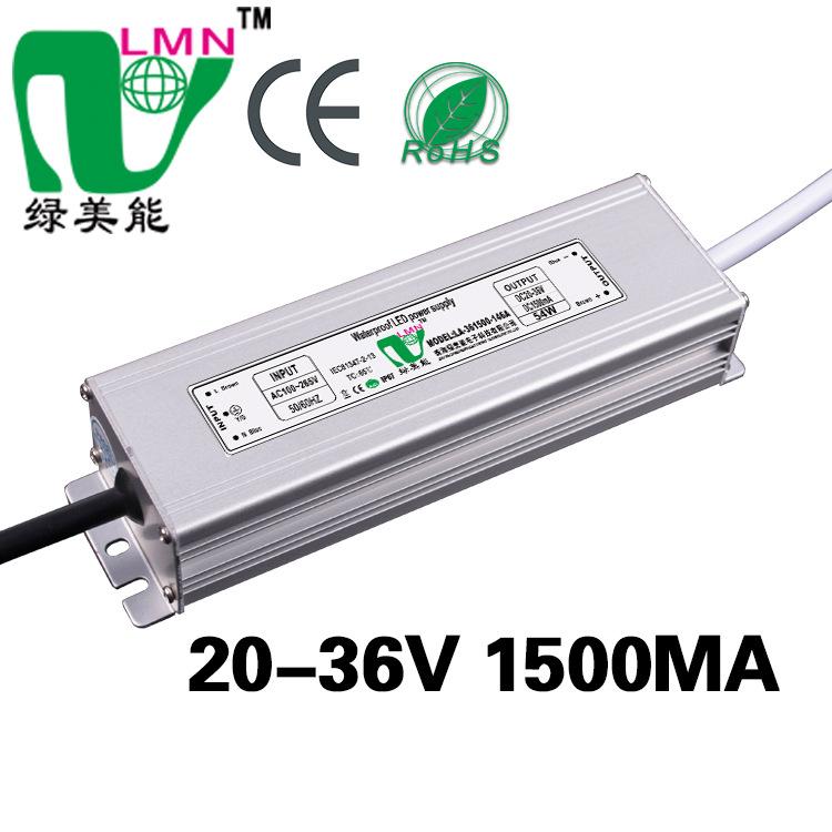 LVMEINENG Bộ nguồn không đổi Kích thước nhỏ và hiệu quả cao 10 series 5 song song 36V1500mA đèn pha