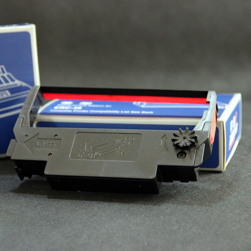 DOSUM Ruy băng Nhà máy bán hàng trực tiếp ERC38 ruy băng hai màu đỏ và đen siêu thị thanh toán tiền