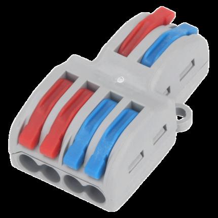 Hộp phân phối cáp  Đầu nối dây đầu nối nhanh Bộ chia hai đầu nối bốn đầu ra SPL-42 khối đầu nối dây