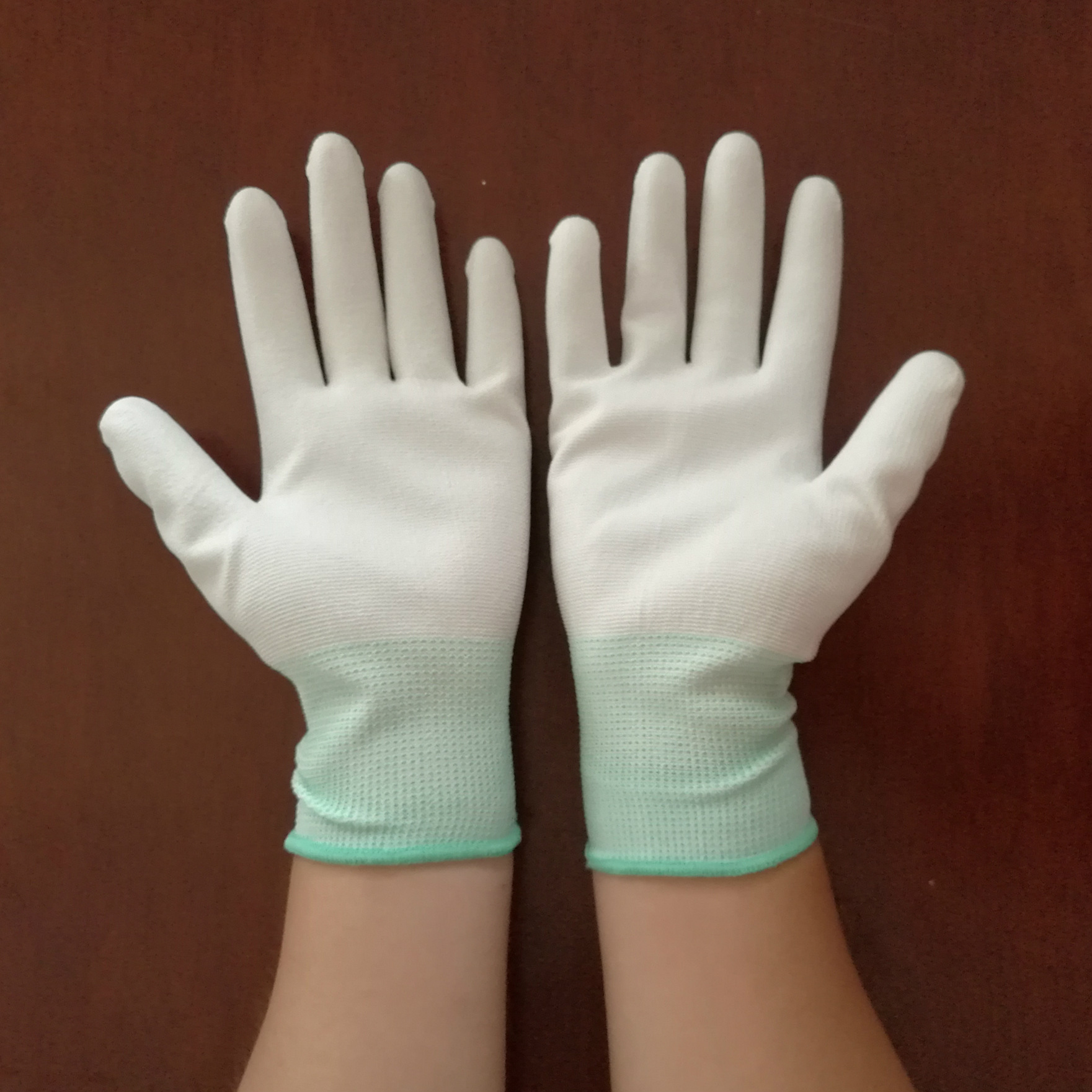 Găng tay bảo hộ Găng tay cọ phủ Pu chống tĩnh điện nhúng ngón tay nhúng găng tay chống trượt bảo vệ