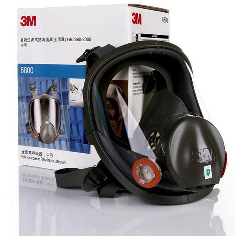 3M Thị trường bảo hộ lao động 6800 mặt nạ silicone hóa chất phun sơn bảo vệ cá nhân mặt nạ bảo vệ đa