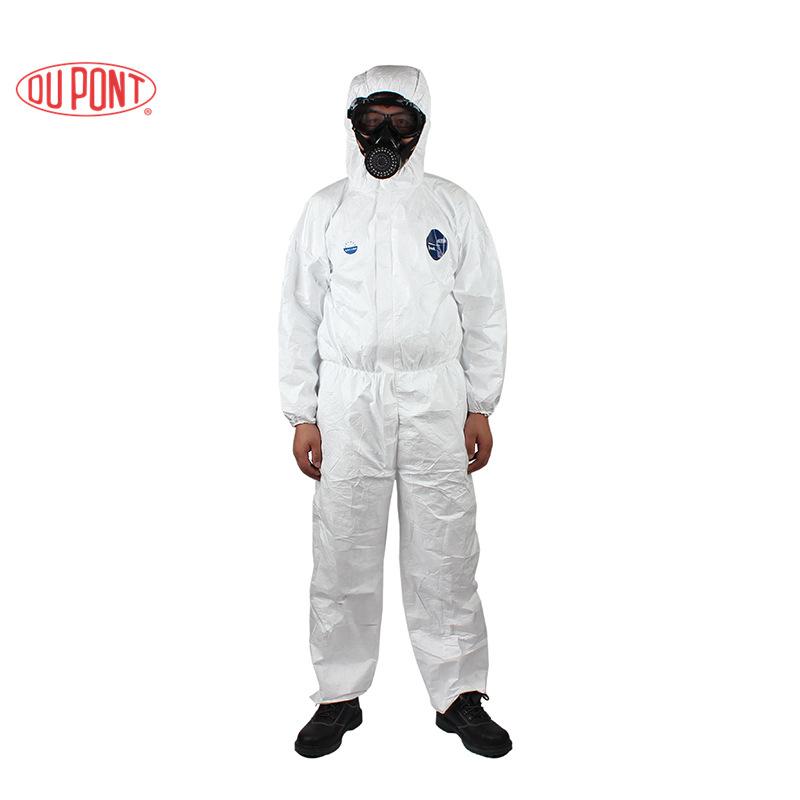 Dupont Trang phục bảo hộ / DuPont 1422ATyvek quần áo bảo hộ trùm đầu một mảnh thoáng khí chống phun