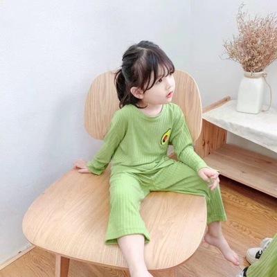 Đồ ngủ trẻ em Mùa xuân 2020 dịch vụ tại nhà của các cô gái Hàn Quốc mới