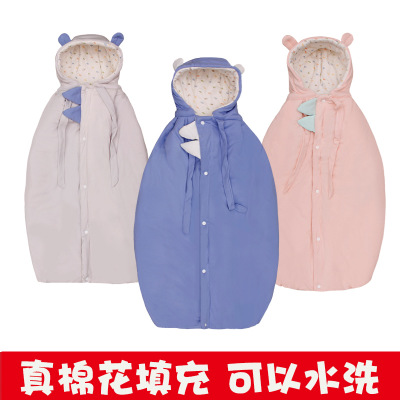 Áo choàng trẻ em Áo choàng cotton cho bé thật có thể vươn ra áo choàng trẻ em bằng vải cotton dày kh