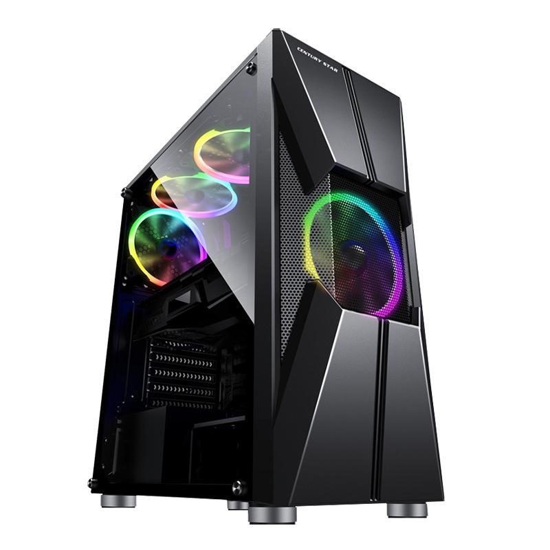 COOLMOON Thùng CPU Máy thời gian Vỏ máy tính Máy tính để bàn Cá tính USB3.0 Mặt acrylic qua ATX Midd