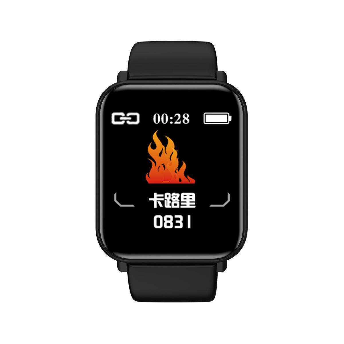 Đồng hồ thông minh Bán hàng trực tiếp mới R16 Bluetooth thể thao không thấm nước bước nhịp tim ngủ h