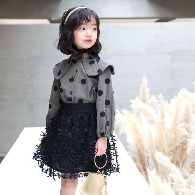 Áo Sơ-mi trẻ em Mùa xuân 2020 áo sơ mi trẻ em mới bé gái áo sơ mi thời trang trẻ em nhỏ cotton và áo
