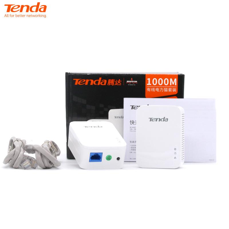 Tenda Powerline PLC Tenda PH3 Gigabit Bộ định tuyến mèo có dây Mini Home Telecom Băng thông rộng tốc