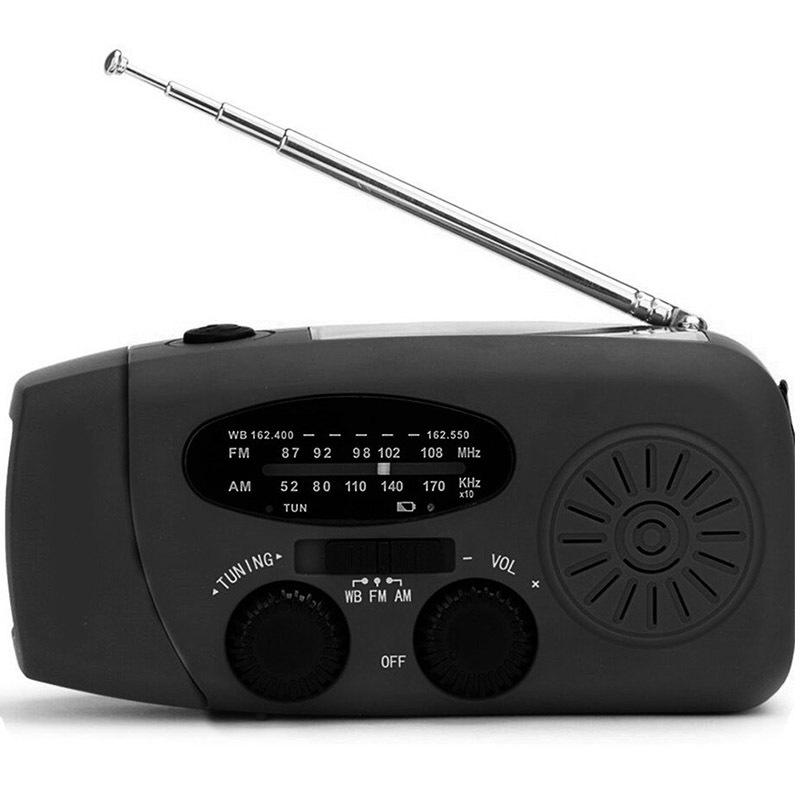 XSY Máy Radio Đài phát thanh năng lượng mặt trời đa chức năng với USB / tay quay thế hệ / ban nhạc W