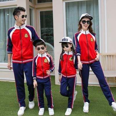 DIDIAI Áo thun gia đình Trang phục dành cho phụ huynh-trẻ em 2020 mặc mùa thu đông mới
