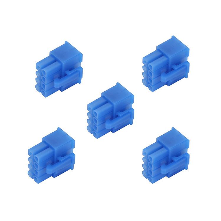 Đầu nối xe 2P / 4P Spot 4.2mm cao su vỏ màu xanh MX4.2