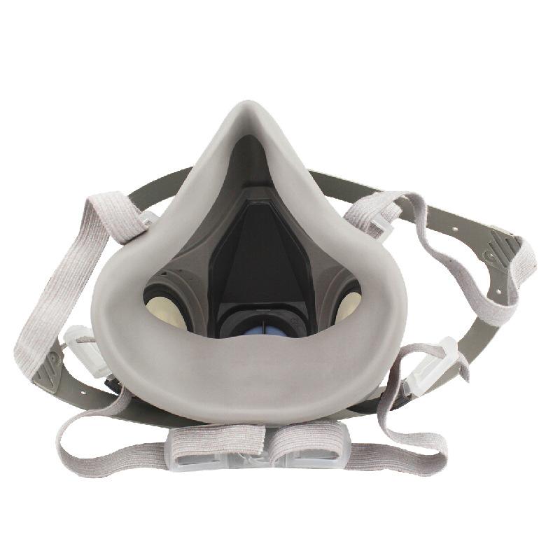 3M Mặt nạ phòng chống khí độc Mặt nạ phòng độc 3M bụi sơn 6200 thích hợp cho mặt nạ bảo vệ mặt nạ th