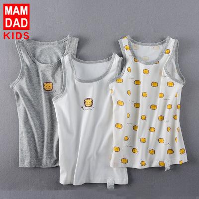 KIDS MAM&DAD Áo ba lỗ  / Áo hai dây trẻ em Áo vest trẻ em cotton Lycra cho bé trai và bé gái ba mảnh