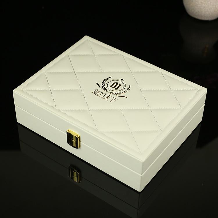 LEXUN Hộp da Làm đẹp tinh dầu hộp da hộp giao hàng hộp PU nhà máy trực tiếp mỹ phẩm lưu trữ hộp trắn
