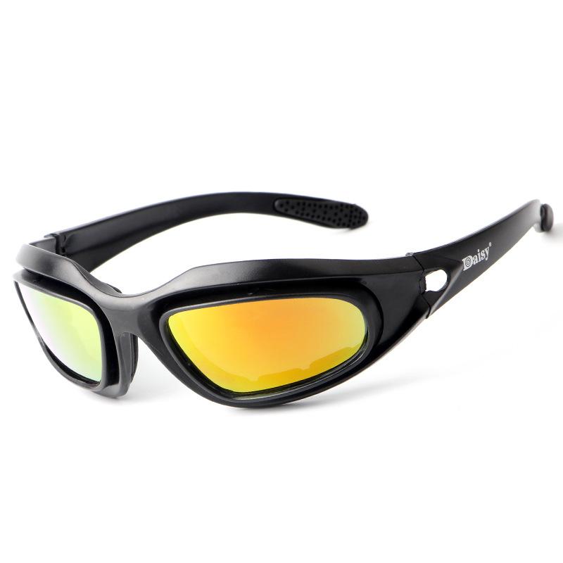 Kính bảo hộ Kính râm trực tiếp Daisy C5 đeo kính bắn súng CS kính bảo vệ chiến thuật Kính xe máy