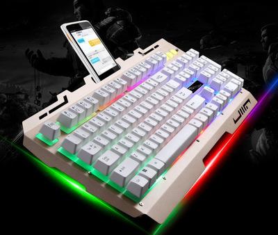 Bàn phím G700 bàn phím có dây kim loại cho máy tính .