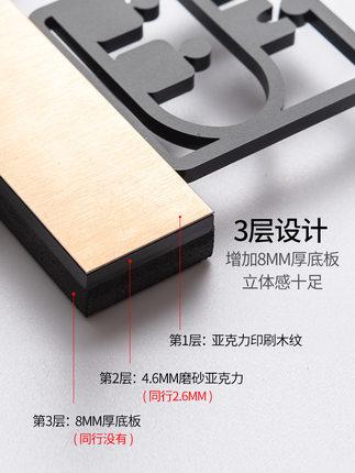 Bảng hiệu logo bằng kim loại 3D ba chiều gắn tường .