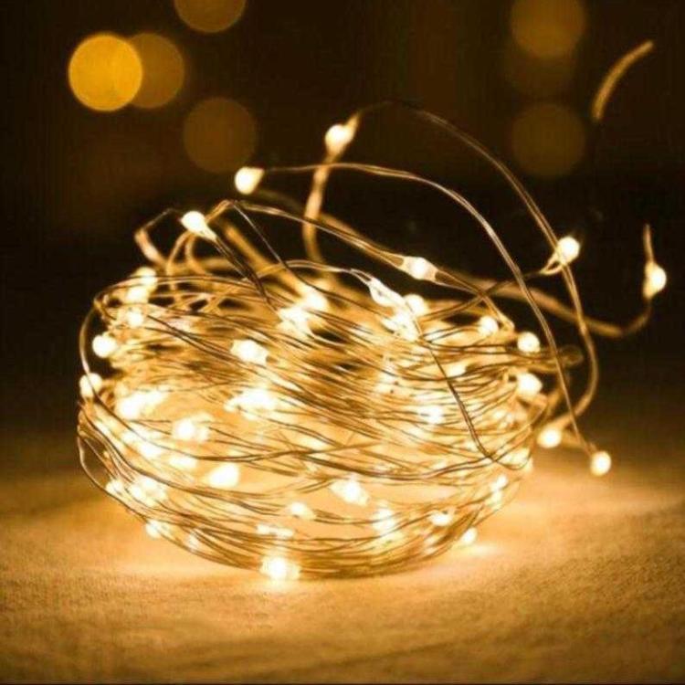 JINXIAN Đèn trang trì Nhà máy 100 đèn 200 đèn LED dây ánh sáng dây đồng dây bạc 8 chức năng chống nư