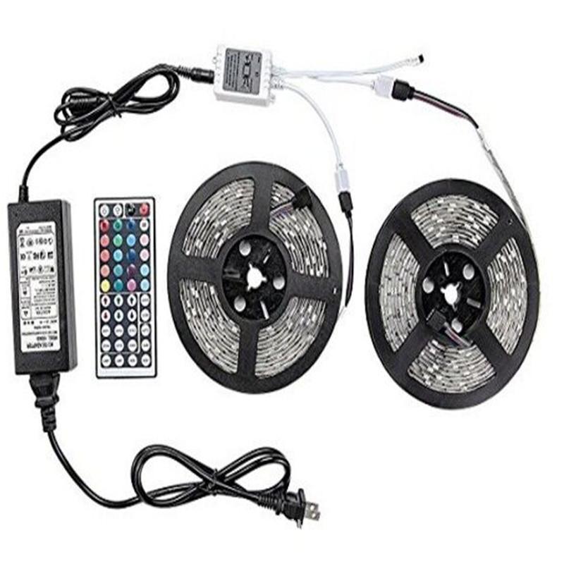 Đèn LED dây LED 5050 đai ánh sáng mềm Epoxy chống nước đặt 300 đèn cộng với 44 bộ điều khiển chính c
