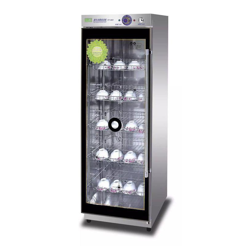 Yimeng Tủ khử trùng bộ đồ ăn khử trùng tủ thương mại thép không gỉ dọc cửa đơn công suất lớn căng ti