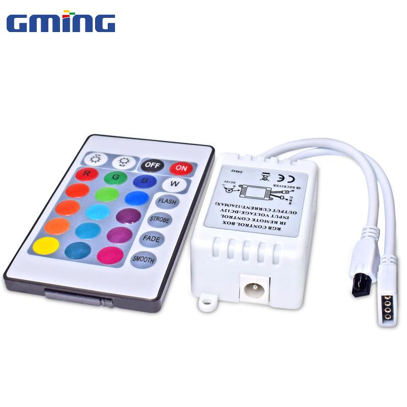 GminG Công tắc điều chỉnh độ sáng Nhà máy trực tiếp RGB đủ màu ánh sáng với bộ điều khiển mini 24 ph