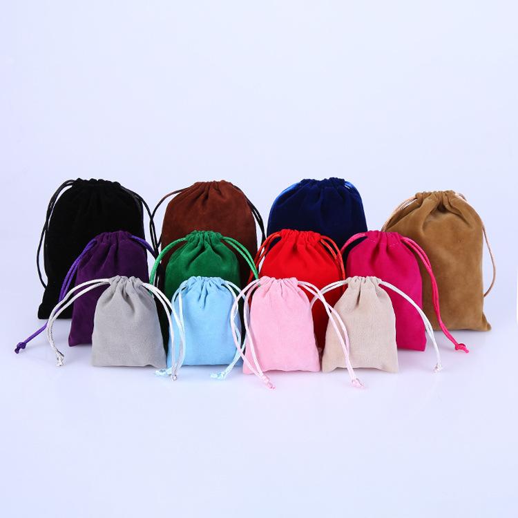 Túi đựng trang sức Nhà sản xuất cung cấp đồ trang sức flannel túi đồ trang sức chùm dây rút túi may