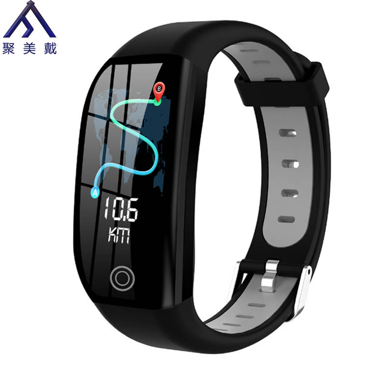 JUMEIDAI Vòng đeo tay thông minh Màn hình màu vòng đeo tay tập thể dục thông minh nhịp tim huyết áp