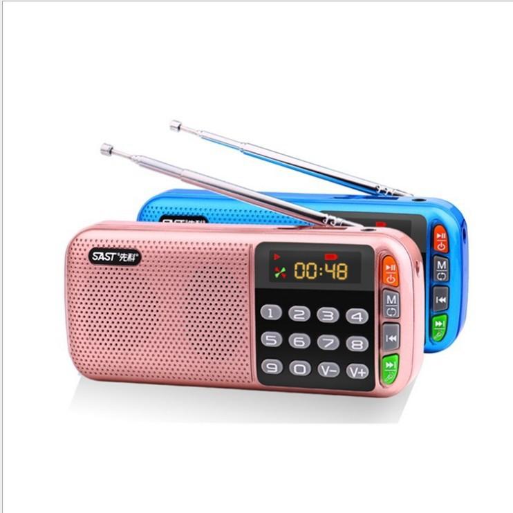 XIANKE Máy Radio Yushchenko N28 thẻ loa đài đôi thẻ điện kép máy cũ máy MP3