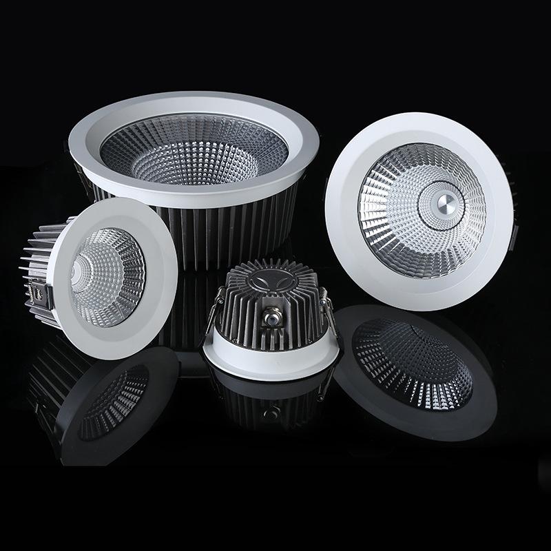 TELAISHI vỏ chụp đèn trần Die Cast Downlight Nhà ở LED Đèn trần Phòng tắm IP65 Đèn chiếu sáng chống