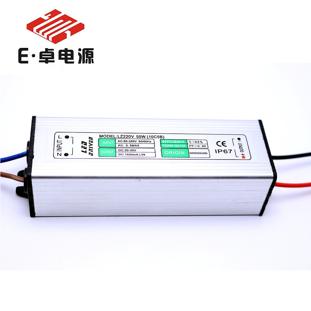 E ZHUO Bộ nguồn không đổi Đèn LED lũ 50w 50w cung cấp điện 1500mA cách ly không thấm nước cao ánh sá