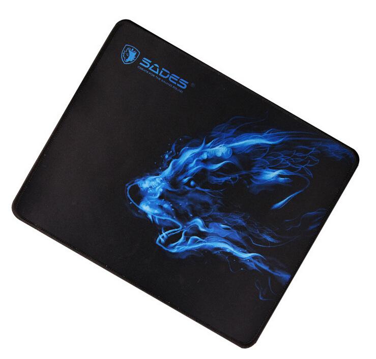 SADES Thảm lót chuột Cho biết Magic Ice Wolf Gaming Pad Chuột ngoại vi Trò chơi dày lớn dành riêng 3