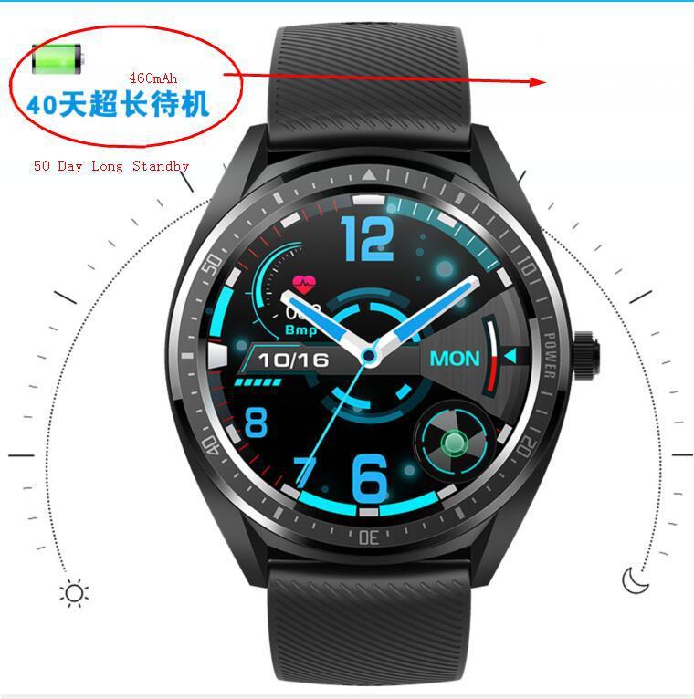 Gfordt Đồng hồ thông minh thể thao 2020KW32IP68 xuyên biên giới 1,28 inch 40 ngày chờ nhịp tim huyết