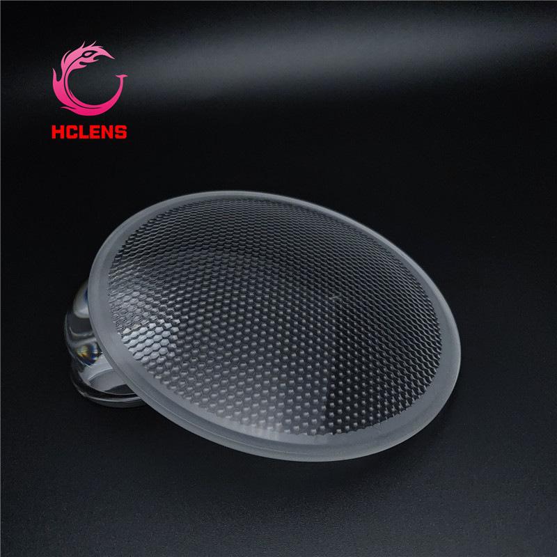 HUANCHEN Đèn LED thấu kính Nhà máy trực tiếp ống kính thủy tinh đường kính 110mm va chạm kích thước