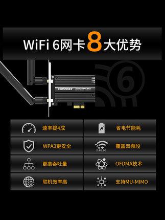 COMFAST Card mạng  AX200PRO Phiên bản nâng cao Trò chơi trò chơi 3000M Gigabit Tần số kép 5G Intel G