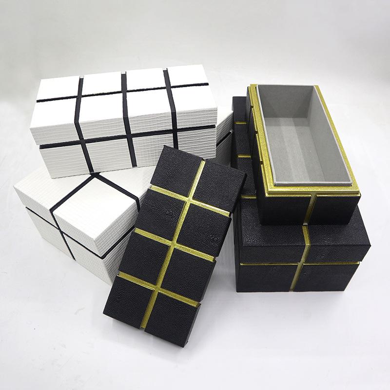 BAOJIA Hộp trang sức Ánh sáng sang trọng hộp trang sức mô hình phòng ngủ phòng khách phòng thay đồ t