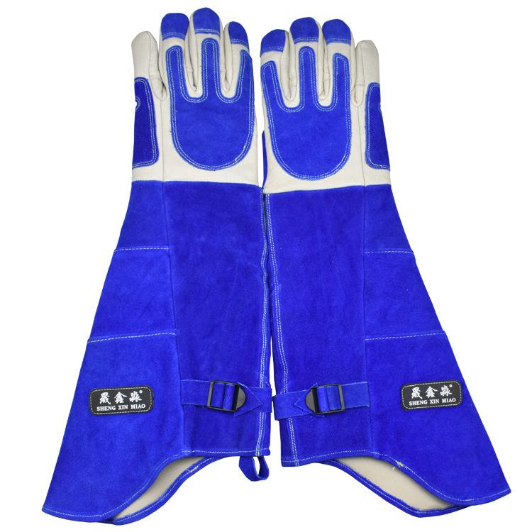 SHENGXINMIAO Găng tay bảo hộ Găng tay chống trầy xước da găng tay kéo dài và dày chó huấn luyện chó