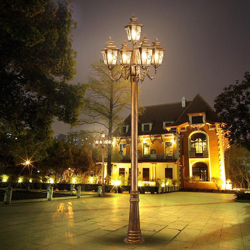LIANGYUAN Đèn LED chiếu sáng công cộng Nhà máy trực tiếp bán 3 mét mới retro châu Âu led vườn đèn dà
