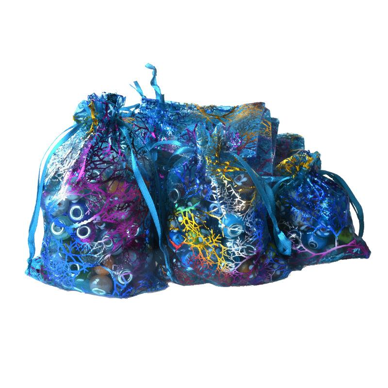 LANWAY LUCKY Túi đựng trang sức Túi màu sợi san hô bronzing đầy màu sắc