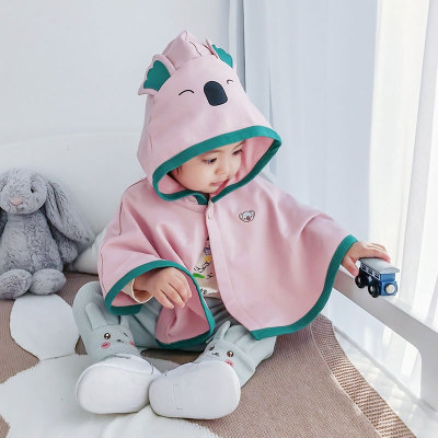 Áo choàng trẻ em Áo choàng bé bé che gió mùa xuân Cô gái mới mặc áo choàng công chúa Nữ bé đi ra ngo