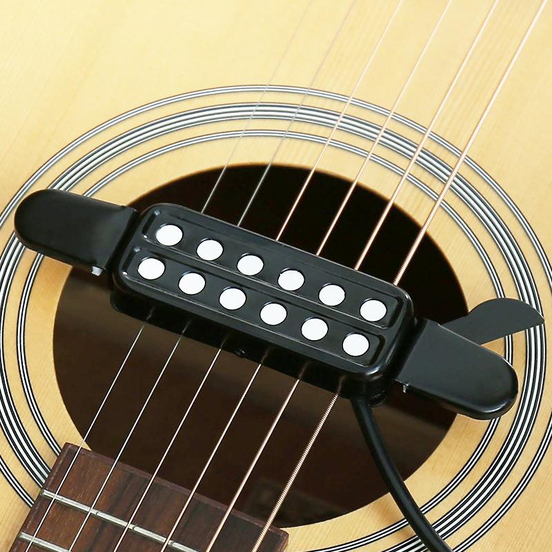 YTK Thiết bị loa Moniter Pickup guitar dân gian mà không có lỗ từ đón âm thanh đón lỗ đi kèm với cáp