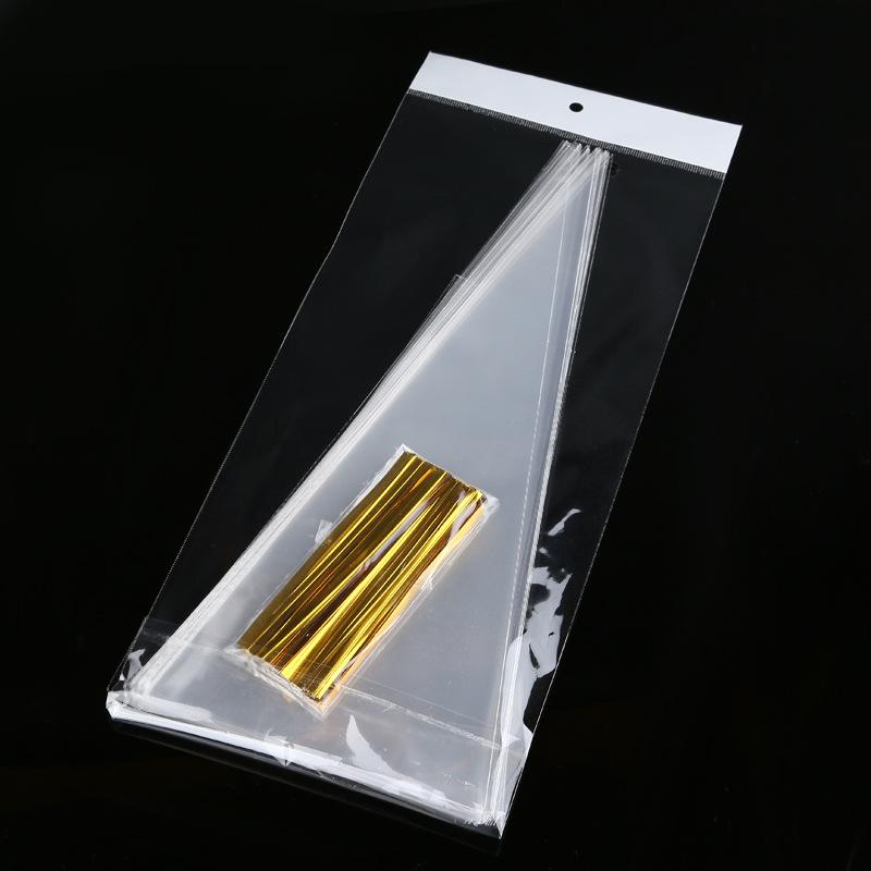 KUNTAI Túi opp Opp túi tam giác túi opp túi nhựa túi nhựa túi kẹo đóng gói tại chỗ