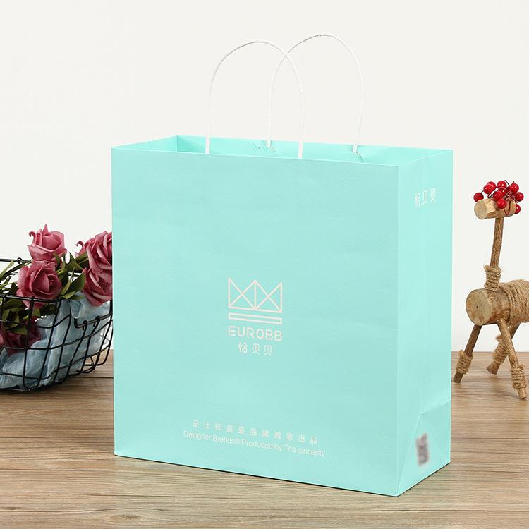 Túi giấy đựng quà Túi tote da bò takeaway mua sắm túi giấy tote tùy chỉnh in quà tặng quần áo bao bì