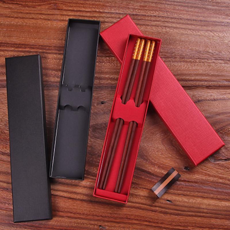 HAOZHE Hai cặp đũa đóng gói hộp quà tặng thế giới bao gồm hộp carton bộ đồ ăn hộp màu hộp có thể đượ