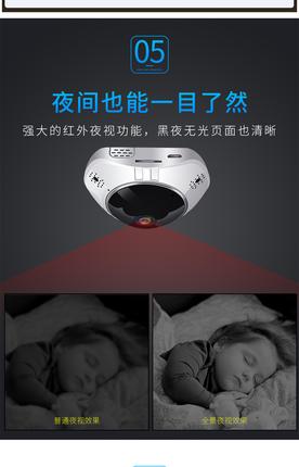 Camera HD toàn cảnh 360 độ toàn màn hình kết nối wifi
