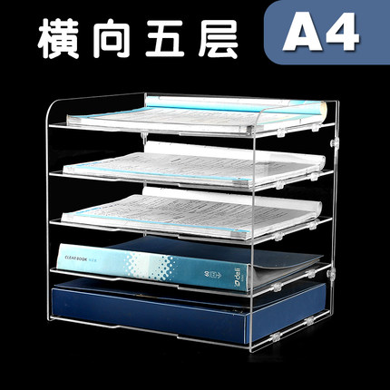 Tủ kệ lưu trữ hồ sơ acrylic A4 Tệp giá nhiều lớp .